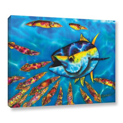 Brushstone Tuna & Squid Gallery Wrapped Canvas Wall Art