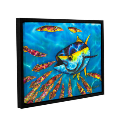 Brushstone Tuna & Squid Gallery Wrapped Floater-Framed Canvas Wall Art