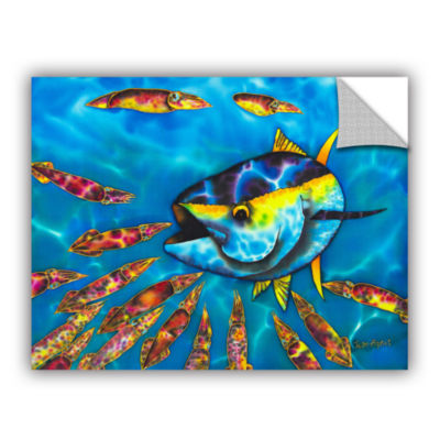 Brushstone Tuna & Squid Removable Wall Decal