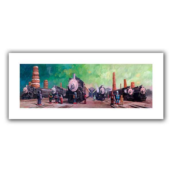Brushstone Trainyard Canvas Wall Art
