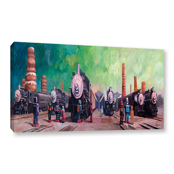 Brushstone Trainyard Gallery Wrapped Canvas Wall Art
