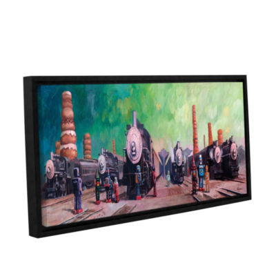Brushstone Trainyard Gallery Wrapped Floater-Framed Canvas Wall Art