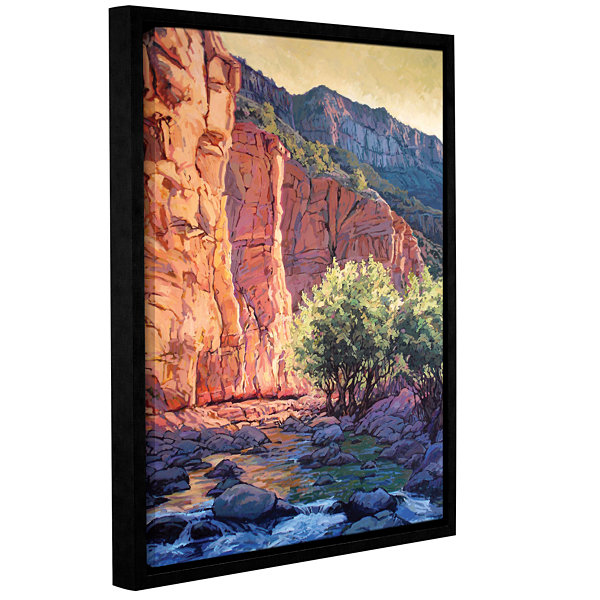 Brushstone The West Fork Gallery Wrapped Floater-Framed Canvas Wall Art