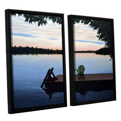 Brushstone Tranquility 2-pc. Floater Framed CanvasWall Art