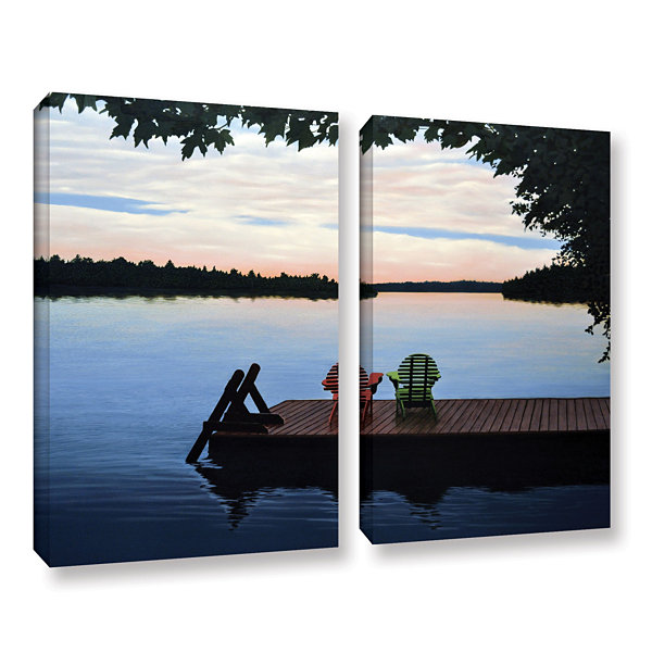 Brushstone Tranquility 2-pc. Gallery Wrapped Canvas Wall Art