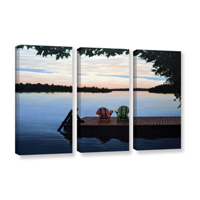 Brushstone Tranquility 3-pc. Gallery Wrapped Canvas Wall Art