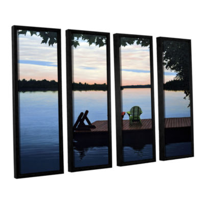 Brushstone Tranquility 4-pc. Floater Framed CanvasWall Art