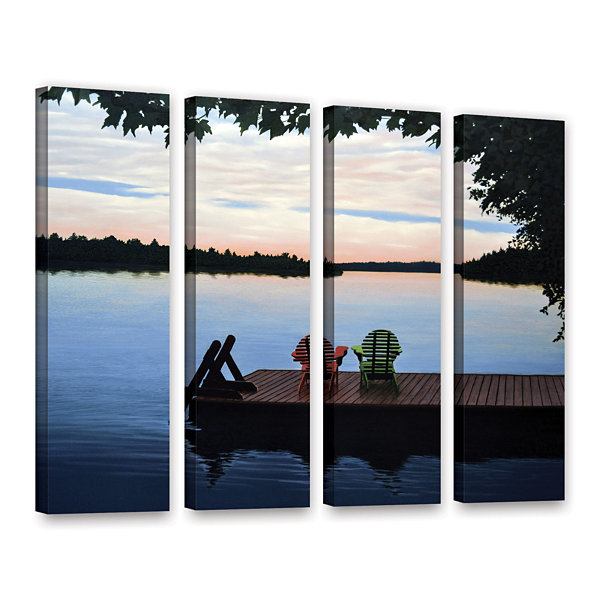 Brushstone Tranquility 4-pc. Gallery Wrapped Canvas Wall Art