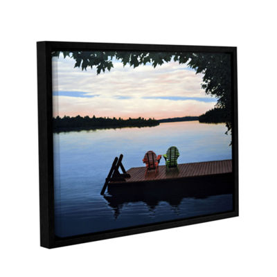 Brushstone Tranquility Gallery Wrapped Floater-Framed Canvas Wall Art