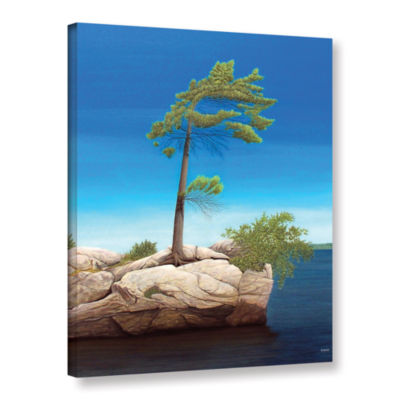 Brushstone Tree Rock Gallery Wrapped Canvas Wall Art