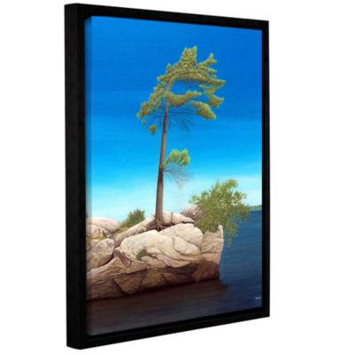 Brushstone Tree Rock Gallery Wrapped Floater-Framed Canvas Wall Art