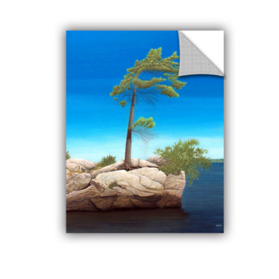 Brushstone Tree Rock Removable Wall Decal