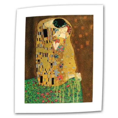 Brushstone The Kiss By Gustav Klimt Canvas Wall Art