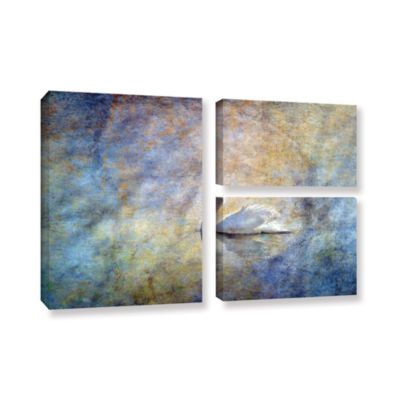 Brushstone The Swan by Antonio Raggio 3-pc. FlagGallery Wrapped Canvas Wall Art