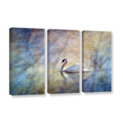 Brushstone The Swan by Antonio Raggio 3-pc. Gallery Wrapped Canvas Wall Art
