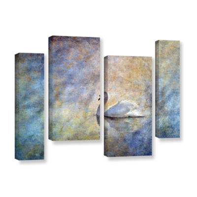 Brushstone The Swan by Antonio Raggio 4-pc. Gallery Wrapped Staggered Canvas Wall Art