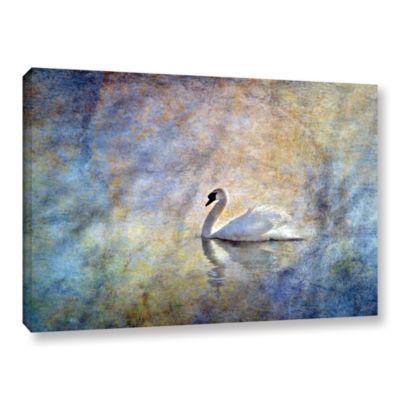 Brushstone The Swan by Antonio Raggio Gallery Wrapped Canvas Wall Art