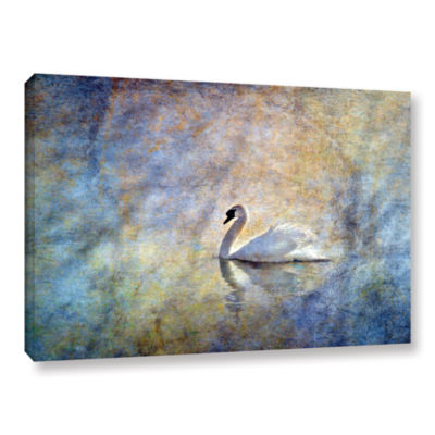 Brushstone The Swan by Antonio Raggio Gallery Wrapped Canvas Wall Art