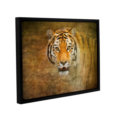 Brushstone Tiger by Antonio Raggio Gallery WrappedFloater-Framed Canvas Wall Art