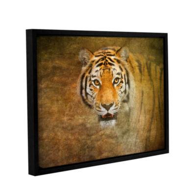 Brushstone Tiger by Antonio Raggio Gallery WrappedFloater-Framed Canvas Wall Art