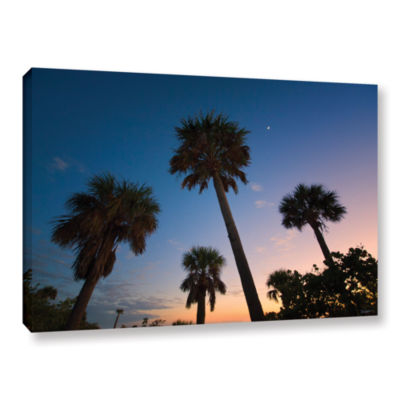 Brushstone Trees At Dusk by Antonio Raggio GalleryWrapped Canvas Wall Art