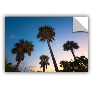 Brushstone Trees At Dusk by Antonio Raggio Removable Wall Decal