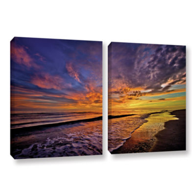 Brushstone The Sunset by Antonio Raggio 2-pc. Gallery Wrapped Canvas Wall Art