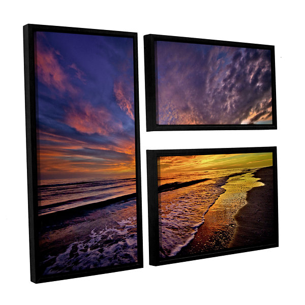 Brushstone The Sunset by Antonio Raggio 3-pc. FlagFloater Framed Canvas Wall Art