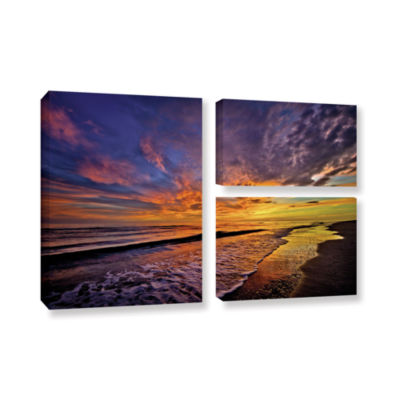 Brushstone The Sunset by Antonio Raggio 3-pc. FlagGallery Wrapped Canvas Wall Art