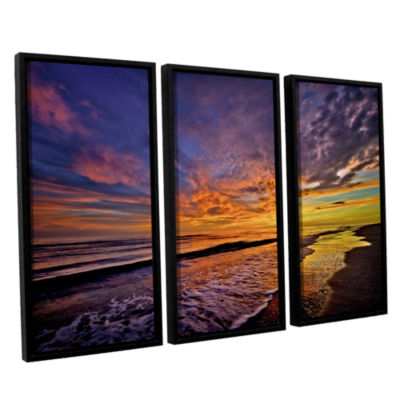 Brushstone The Sunset by Antonio Raggio 3-pc. Floater Framed Canvas Wall Art