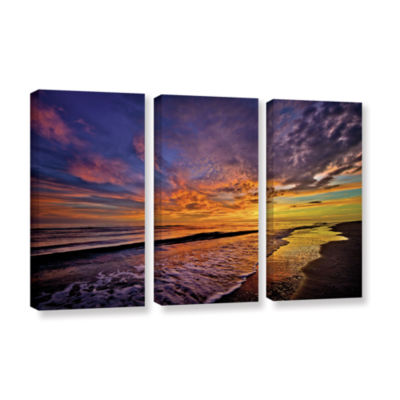 Brushstone The Sunset by Antonio Raggio 3-pc. Gallery Wrapped Canvas Wall Art