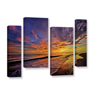 Brushstone The Sunset by Antonio Raggio 4-pc. Gallery Wrapped Staggered Canvas Wall Art