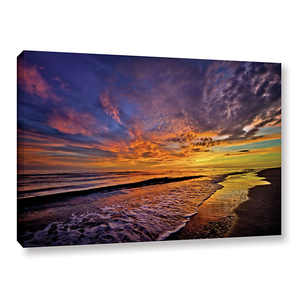 Brushstone The Sunset by Antonio Raggio Gallery Wrapped Canvas Wall Art