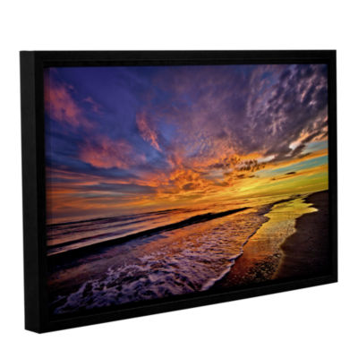 Brushstone The Sunset by Antonio Raggio Gallery Wrapped Floater-Framed Canvas Wall Art