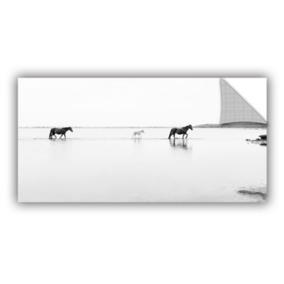 Brushstone Three Horses Removable Wall Decal