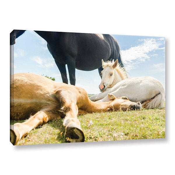 Brushstone Three Horses Ways Gallery Wrapped Canvas Wall Art