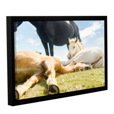 Brushstone Three Horses Ways Gallery Wrapped Floater-Framed Canvas Wall Art