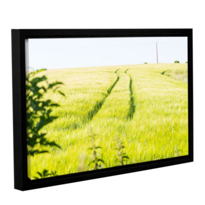Brushstone Tracks In Grass Gallery Wrapped Floater-Framed Canvas Wall Art