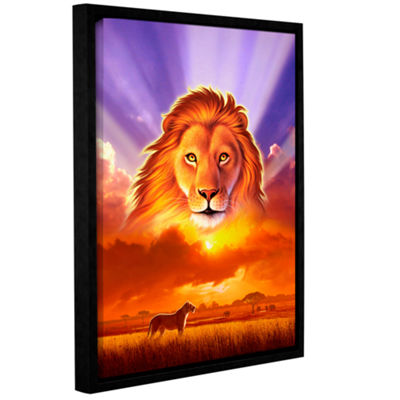 Brushstone The Lion King Gallery Wrapped Floater-Framed Canvas Wall Art