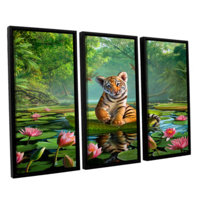 Brushstone Tiger Lily 3-pc. Floater Framed CanvasWall Art