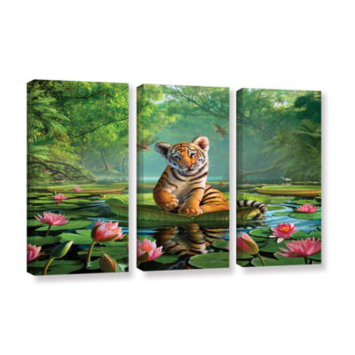 Brushstone Tiger Lily 3-pc. Gallery Wrapped CanvasWall Art