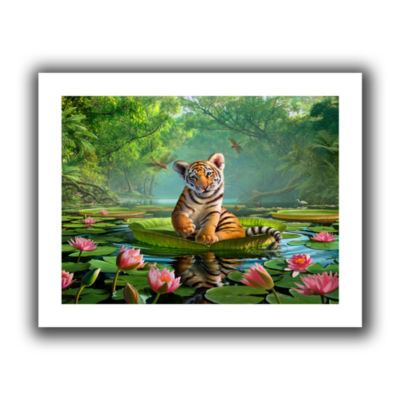Brushstone Tiger Lily Canvas Wall Art