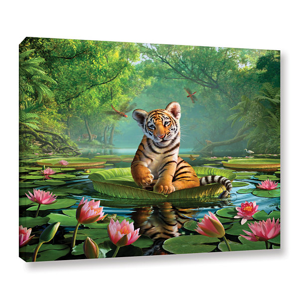 Brushstone Tiger Lily Gallery Wrapped Canvas WallArt