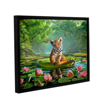 Brushstone Tiger Lily Gallery Wrapped Floater-Framed Canvas Wall Art