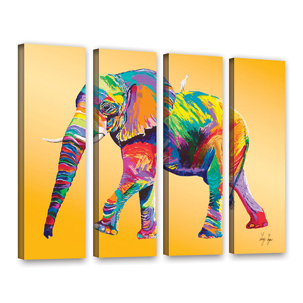 Brushstone The Ride 4-pc. Gallery Wrapped Canvas Wall Art