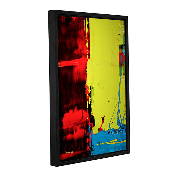 Brushstone Turbulent Times Gallery Wrapped Floater-Framed Canvas Wall Art