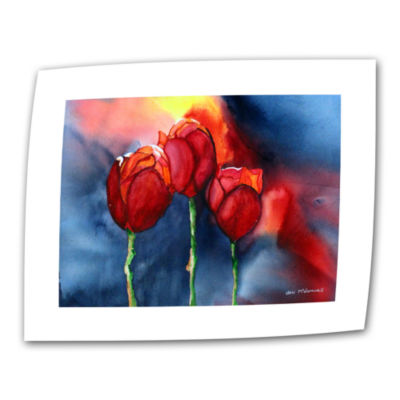 Brushstone Tulips By Dan Mc Donnell Canvas Wall Art