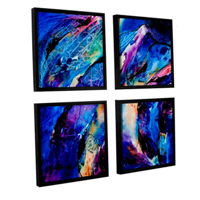 Brushstone Trusting 4-pc. Square Floater Framed Canvas Wall Art