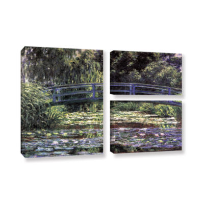 Brushstone The Japanese Footbridge  Giverny 3-pc.Flag Gallery Wrapped Canvas Wall Art