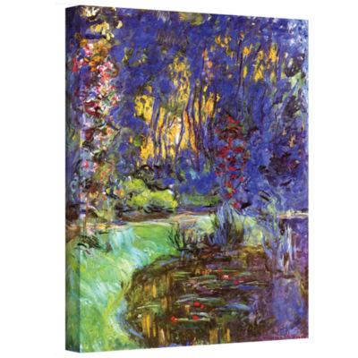 Brushstone The Japanese Footbridge  Giverny Gallery Wrapped Canvas Wall Art